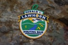 Embroidered patch for Lawhorn Scout Base, Boy Scouts of America