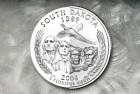Design for the US Mint¹s 50 State Quarter Program, South Dakota reverse