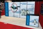 Trade show display for Solvay plastics