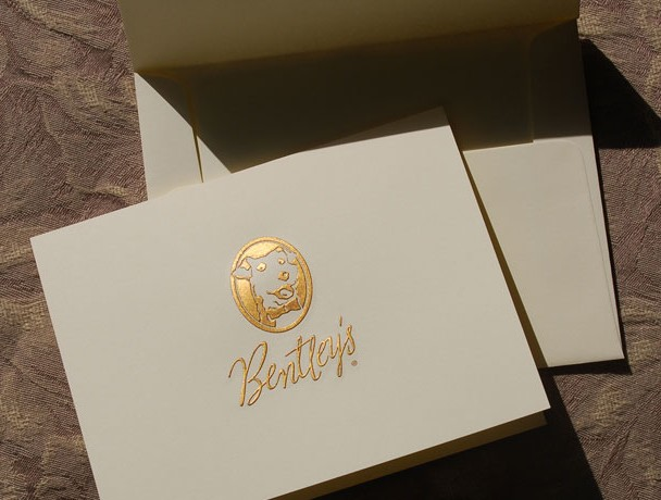 Engraved gift card for Bentley¹s Popcorn