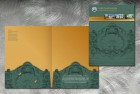 Pocket folder for Cobb Landmarks and Historical Society, a non-profit dedicated to historic preservation