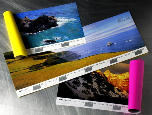 Promotional calendars emphasizing Lawrence Printing¹s quality