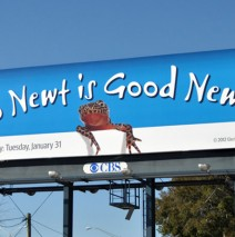 Billboard for the 2012 Republican primary in Florida