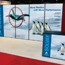 Trade show display for Solvay plastics